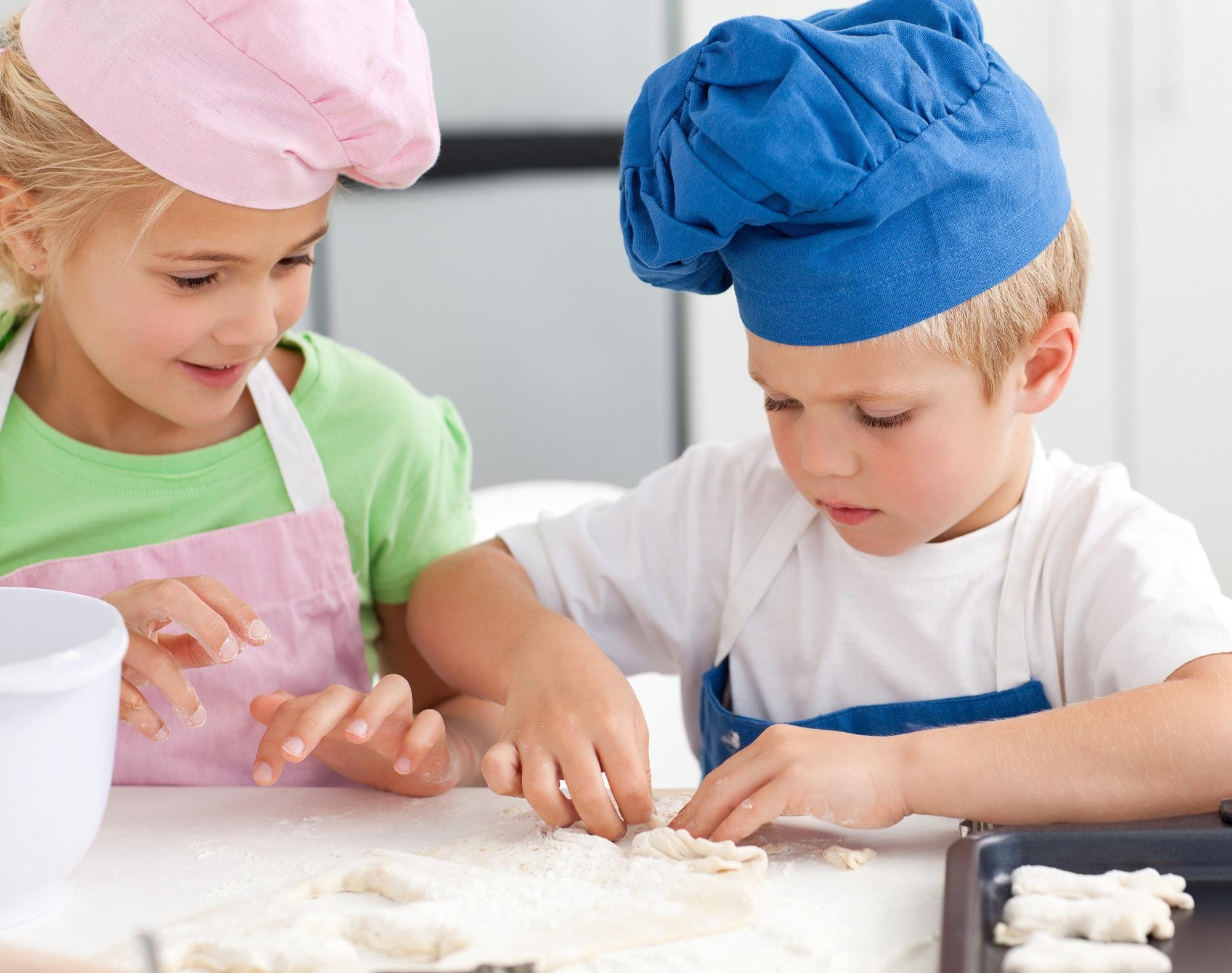 bambini e verdure surgelate